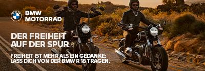 FREIHEIT IST MEHR ALS EIN GEDANKE:  LASS DICH VON DER BMW R 18 TRAGEN.