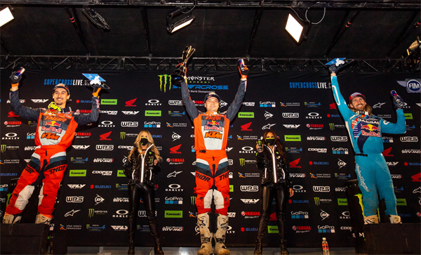 WEBB AND MUSQUIN GIVE RED BULL KTM AN IMPRESSIVE 1-2 PODIUM FINISH AT 450SX ROUND 8