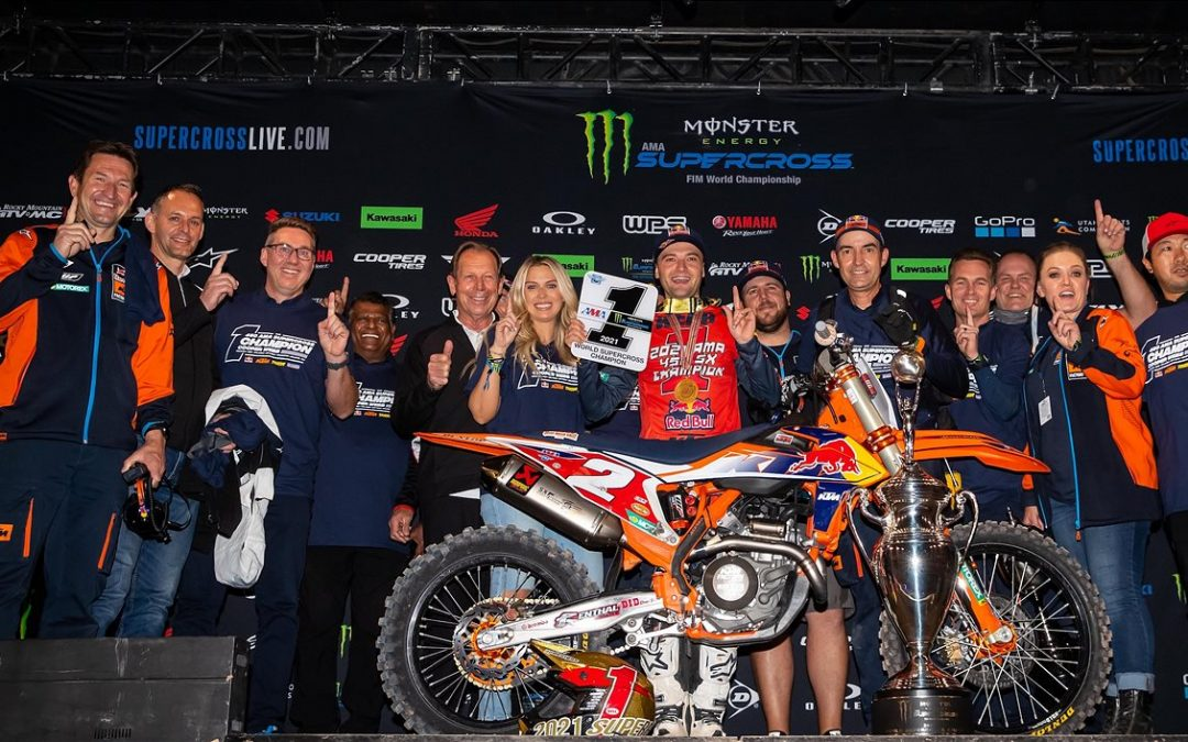 COOPER WEBB IS CROWNED 2021 450SX CHAMPION AT SALT LAKE CITY SX FINALE